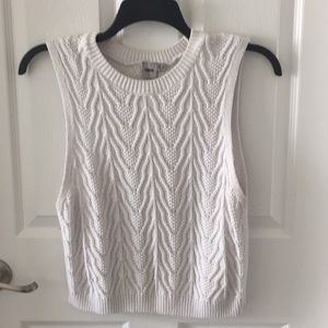 Cable Knit Sweater Tank